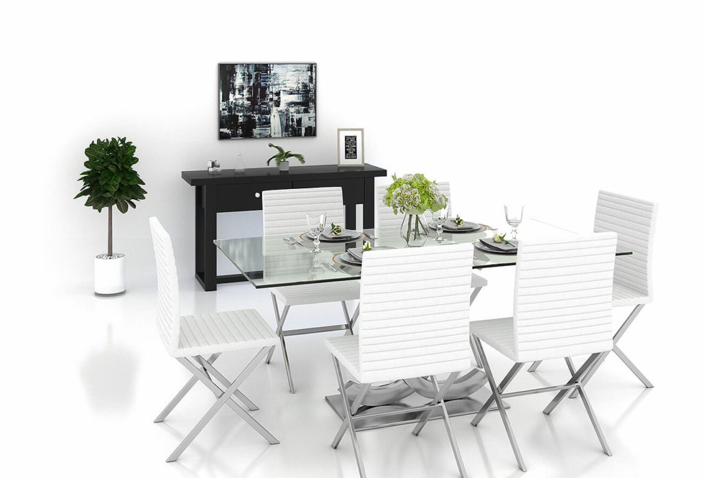 photoup modern dining room set for virtual staging